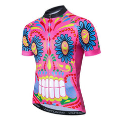 Picasso Pink Skull Cycling Jersey