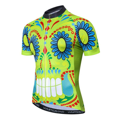 Picasso Green Skull Cycling Jersey