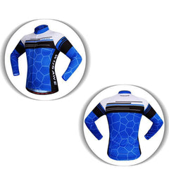 Blue Asphalt Long Sleeve Cycling Jersey