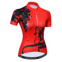 Rider Red Cycling Jersey for Women