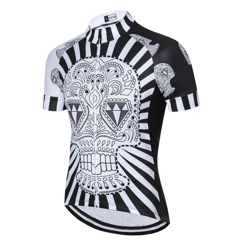 Black Skull Diamond Cycling Jersey