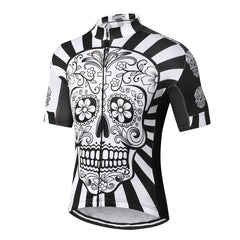 White Skull Cycling Jersey