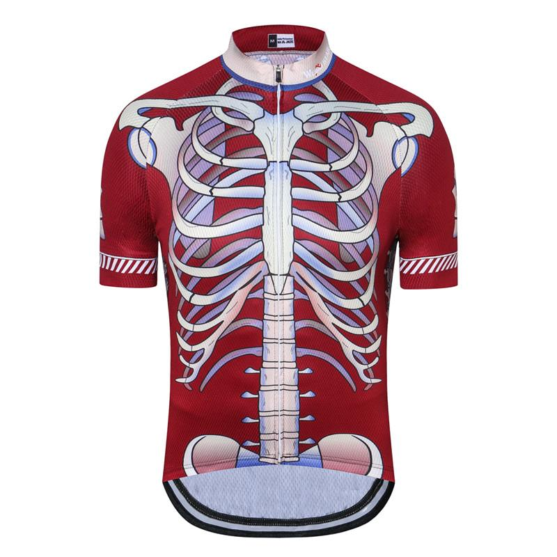 Red Skeleton Cycling Jersey