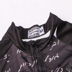 Black Skeleton Cycling Jersey