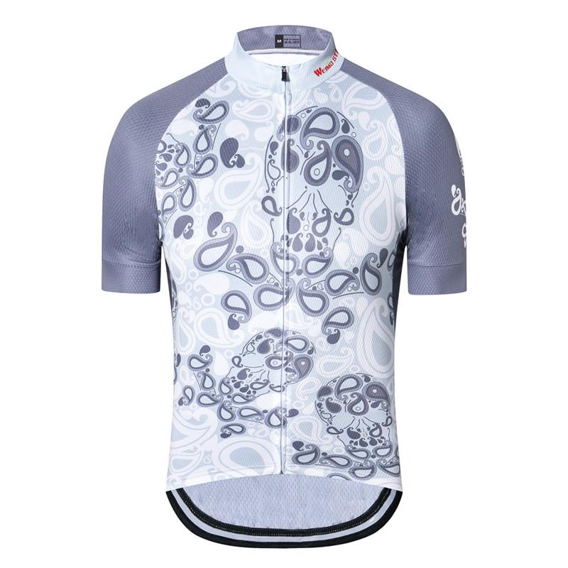 Abstract Skull Cycling Jersey