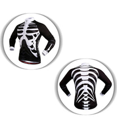 Skeleton Long Sleeve Cycling Jersey