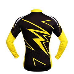 Superhero Yellow Long Sleeve Cycling Jersey