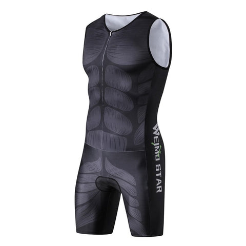 One Piece Muscle Compression Cycling Set