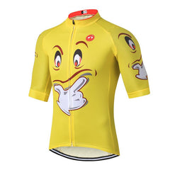 Funny Yellow Face Cycling Jersey