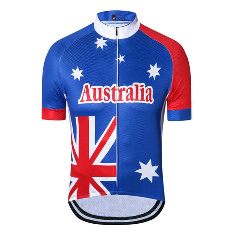 Blue Australia Cycling Jersey