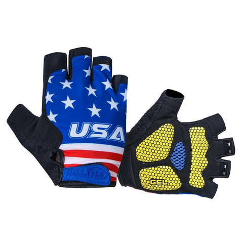 USA Cycling Gloves With Gel Pad