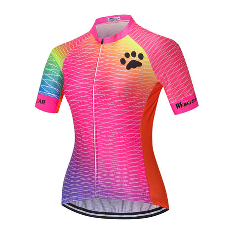 Pink Paw Cycling Jersey for Women
