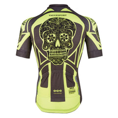 Yellow Bright Skull Cycling Jersey