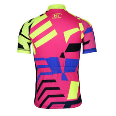 Pink and Yellow Cycling Jersey - The Cycling Fever - 2