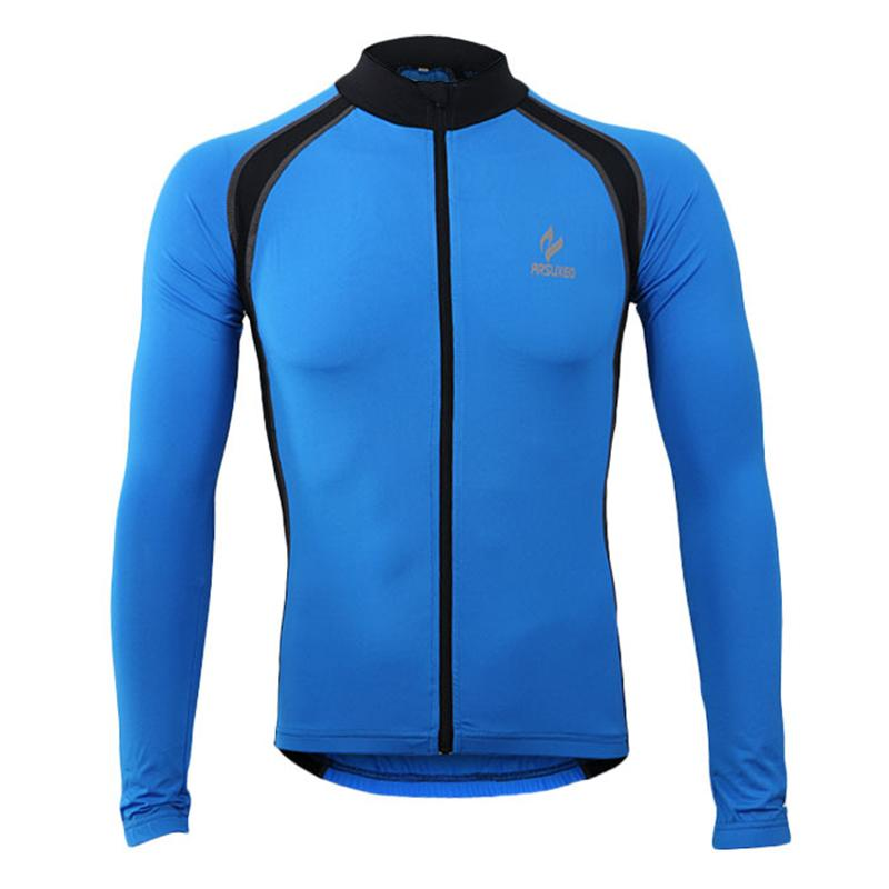 Blue And Black Long Sleeve Cycling Jersey