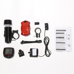Bicycle Speedometer and 5 LED Bike Head Light and Bicycle Rear Light Lamp - The Cycling Fever - 6
