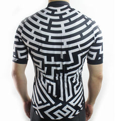 Fashion Black & White Cycling Jersey - The Cycling Fever - 3