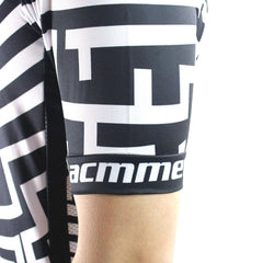Fashion Black & White Cycling Jersey - The Cycling Fever - 4