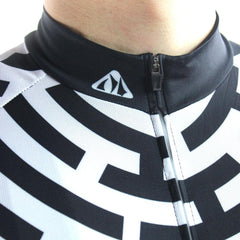 Fashion Black & White Cycling Jersey - The Cycling Fever - 6
