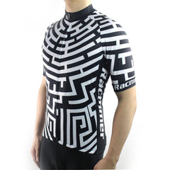 Fashion Black & White Cycling Jersey - The Cycling Fever - 2