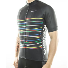 Black Rainbow Cycling Jersey - The Cycling Fever - 2