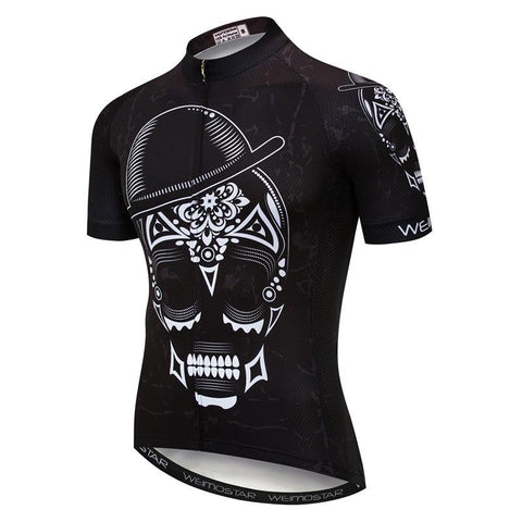 Skull With Hat Cycling Jersey