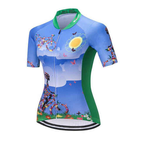 Flowers Cycling Jersey for Women