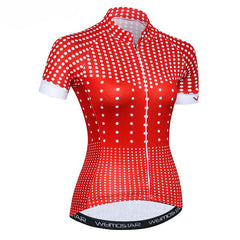 White Circle Cycling Jersey for Women