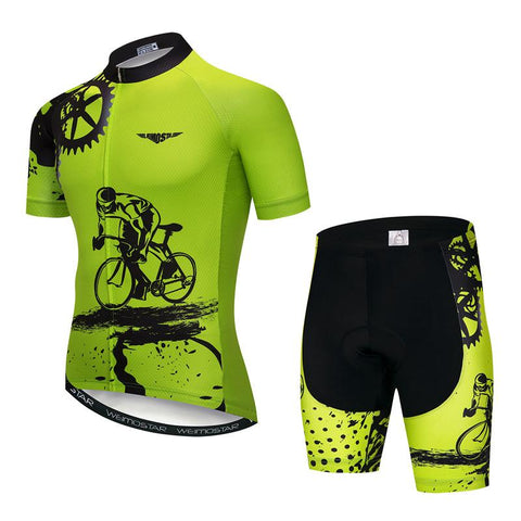 Green Cycling Jersey Set
