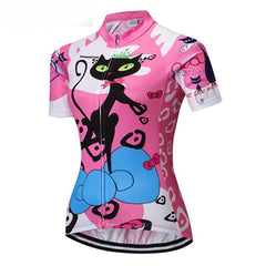 Pink Cat Competitor Cycling Jersey for Women