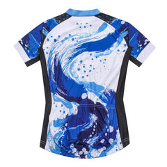 Blue Art Bicycle Cycling Jersey