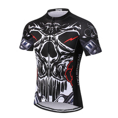 Black Skull Cycling Jersey