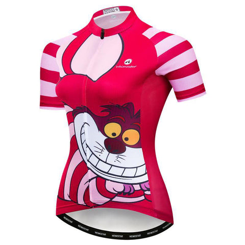 Red Cat Cycling Jersey for  Women