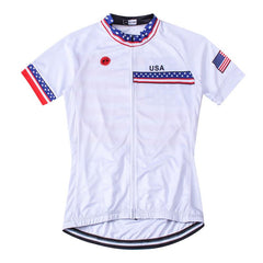 White USA Cycling Jersey