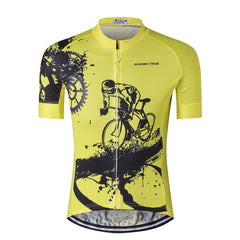Yellow Bicycle Rider Cycling Jersey