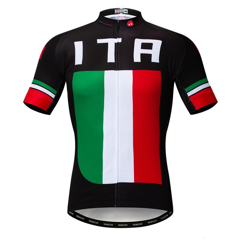 Black Italia Team Cycling Jersey