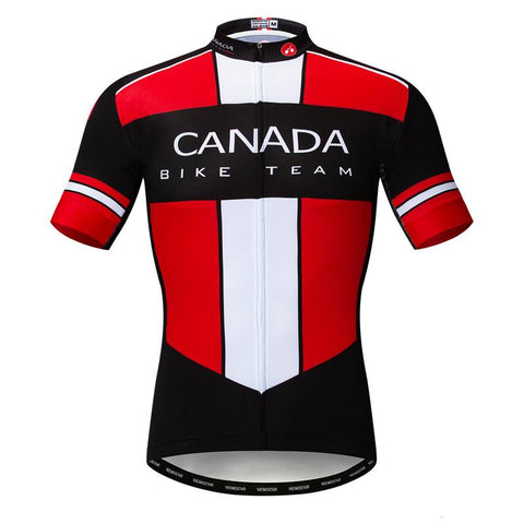 Black Canada Team Cycling Jersey