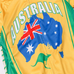 Yellow Australia Cycling Jersey