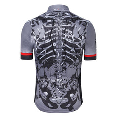 Gray Skeleton Cycling Jersey