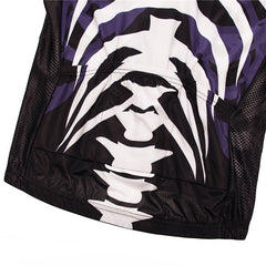 Purple & White Skeleton Cycling Jersey