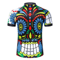 Picasso Black & White Skull Cycling Jersey