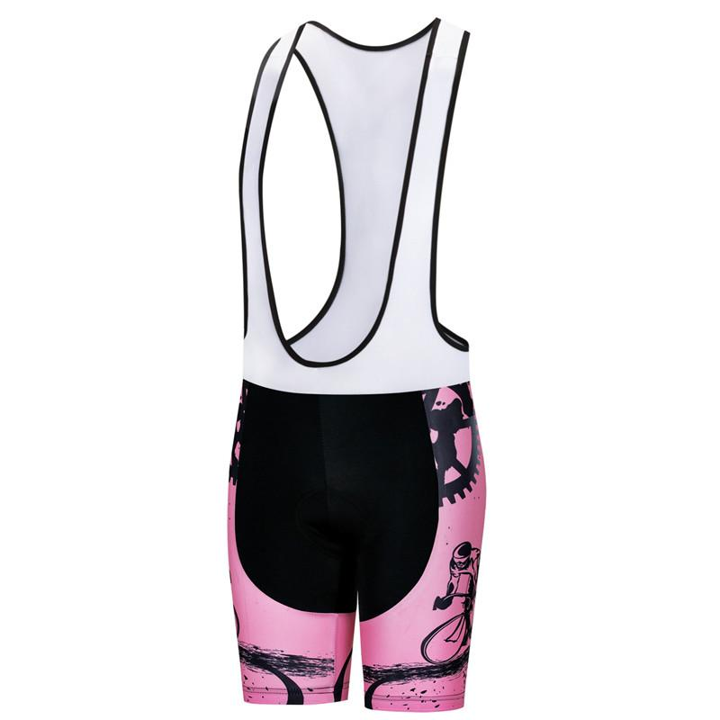 Rider Pink Cycling Bib Shorts for Women
