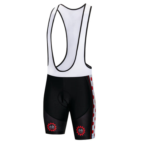 Red Circle Bib Shorts