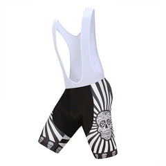 White Skull Bib Shorts