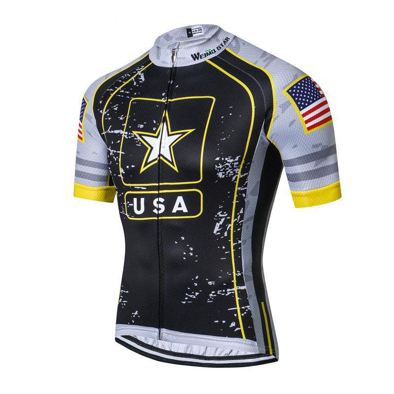 Black USA Army Team Cycling Jersey