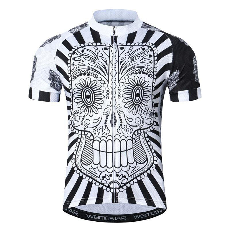 Crazy White Skull Cycling Jersey