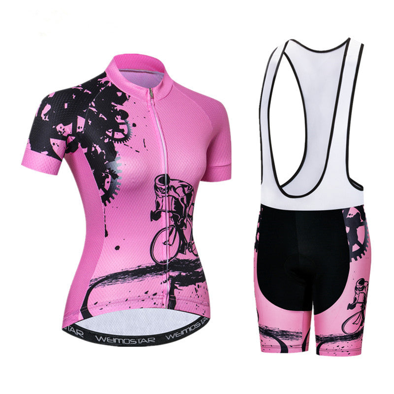 Women's Rider Pink Cycling Wear Set