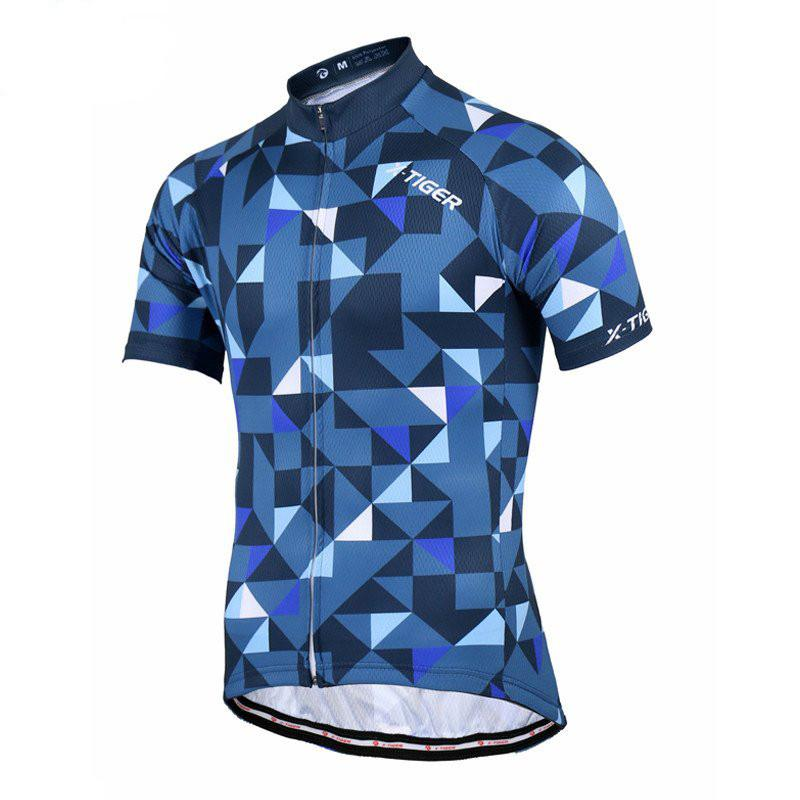 Blue Stylish Cycling Jersey - The Cycling Fever - 1