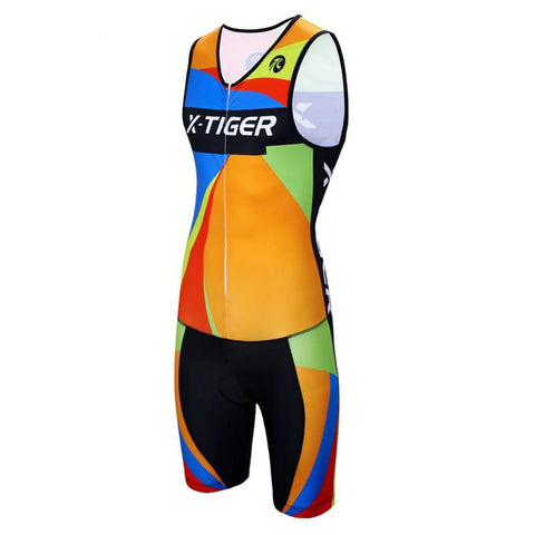 One Piece Orange Maillot Compression Cycling Set