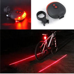 5 LED 2 Laser Tail Warning Bicycle Rear Lamps - The Cycling Fever - 9